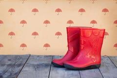 boots красная резина стоковые фото