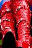 boots красный цвет латекса Стоковые Изображения