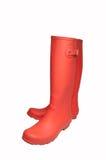boots красный цвет Стоковое Изображение