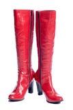 boots красный цвет стоковая фотография