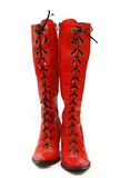 boots красный цвет Стоковые Фотографии RF