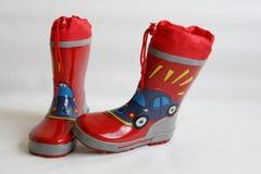 boots красный wellington Стоковое фото RF