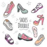 Boots красочное собрание doodle Стоковые Фотографии RF
