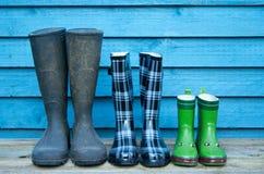 boots резина семьи стоковое изображение rf