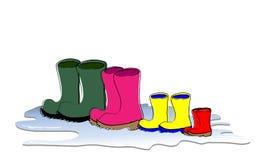 boots семья Стоковые Изображения