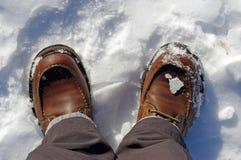 boots снежное стоковые изображения rf