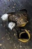 boots старая работа стоковое изображение rf