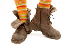 boots старая Стоковое Фото