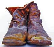 boots старая стоковые фотографии rf