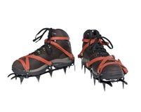 boots старая crampons новая стоковые изображения