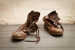 boots старое утомленное Стоковое Изображение