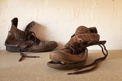 boots старое утомленное Стоковое Изображение RF