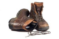 boots тяжелый используемый hiking Стоковое Изображение