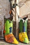 boots тяжелый метал ковбоя Стоковое Фото
