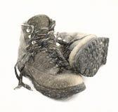 boots тяжелый hiking старый Стоковое Изображение RF