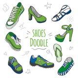 Boots цвет собрания doodle года 2017 Стоковое Изображение