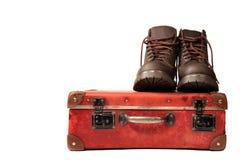 boots чемодан Стоковое Фото