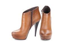 boots шикарная женщина Стоковое Изображение RF