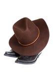 boots шлем ковбоя Стоковое Изображение RF