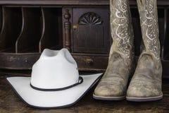 boots шлем ковбоя Стоковое Фото