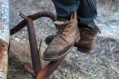 boots люди s Стоковое фото RF