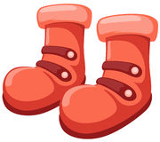 Boots. Illustration of isolated colorful boots on white background stock illustration