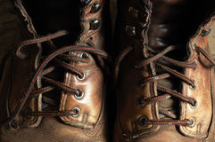 Boots. Image of worn leather boots Stock Photo