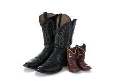 boots ковбои будьте отцом изолированного сынка Стоковые Фото