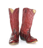 Boots. Cowboy's boots from a natural leather Royalty Free Stock Photography