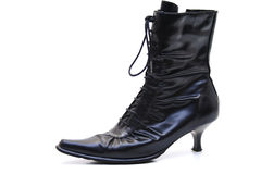 Boots. Lady boot with zip-fastener royalty free stock photography