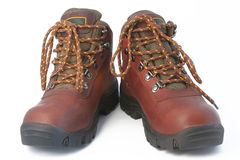 Boots. Two boots for tourism on a white background Stock Photo