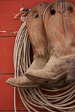 Boots And Rope Stock Photo