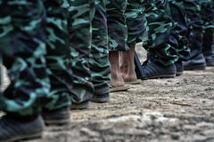 Boots of army Stock Image