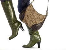 Boots and bag Royalty Free Stock Photo