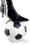 Boots on ball soccer Royalty Free Stock Photography