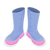 Boots. Blue boots isolated on white background, illustration Royalty Free Stock Photography