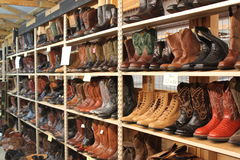 Boots boots and more boots Royalty Free Stock Photography