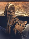 Boots, Brown, Classic Royalty Free Stock Photo