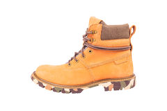 Boots brown color on white Royalty Free Stock Images