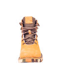 Boots brown color on white Royalty Free Stock Photography