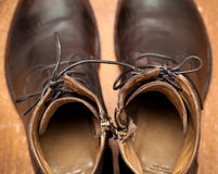 Boots of brown leather Royalty Free Stock Photography