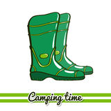 Boots Camping Equipment Royalty Free Stock Photo