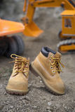 Boots child outdoor Royalty Free Stock Photography