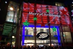 Boots at Christmas Royalty Free Stock Photos