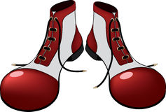 Boots for the clown. Cartoon Royalty Free Stock Images