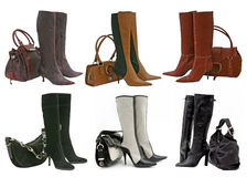 Boots collection Stock Image