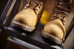 Boots of constructor Royalty Free Stock Image