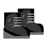 Boots contour for equipment military protection royalty free illustration