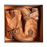 Boots of the cowboy royalty free stock images