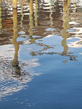 Boots-Dock-Reflexion lizenzfreie stockfotos